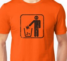 Keep Gotham Clean - Black Distressed Unisex T-Shirt