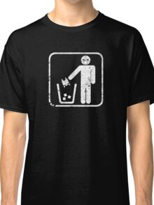 Keep Gotham Clean - White Distressed Classic T-Shirt