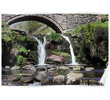 Three Shires Head Waterfall Poster