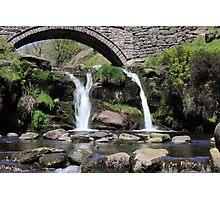 Three Shires Head Waterfall Photographic Print