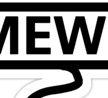 mews - black on white Sticker