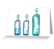 Antique Bottles Greeting Card