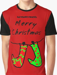 Bad Drawer Presents Stockings Graphic T-Shirt