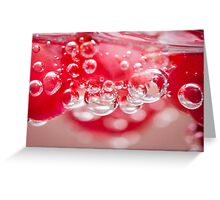 Fizzy bubbles Greeting Card