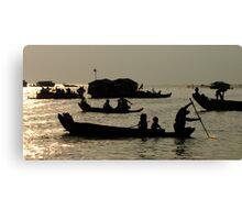Life On Lake Tonle Sap Cambodia Canvas Print