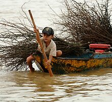 A Hard Life Lake Tonle Sap by Bob Christopher