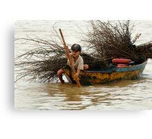A Hard Life Lake Tonle Sap Canvas Print