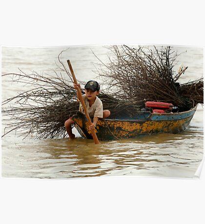 A Hard Life Lake Tonle Sap Poster