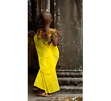 Young Person Angkor Wat Cambodia Photographic Print