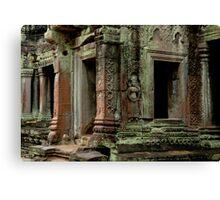 Kmier Ruins At Angkor Wat Canvas Print