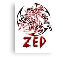 Zed Tribal C.Version Canvas Print