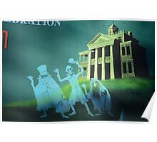 Haunted Mansion Haunted House Hitch Hiking Ghosts Poster