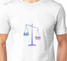 smart or stupid justice scales Unisex T-Shirt
