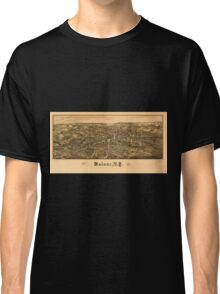 Panoramic Maps Malone NY Classic T-Shirt