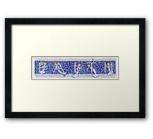 Faith -  Original Blue Version Framed Print