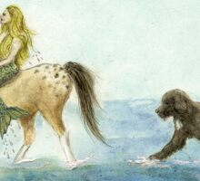 Mermaid Horse Newfoundland Dog Cathy Peek Sticker