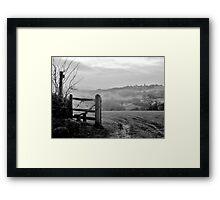 Over the fields........ Framed Print