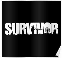 Survivor - White Ink Poster