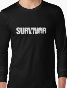 Survivor - White Ink Long Sleeve T-Shirt