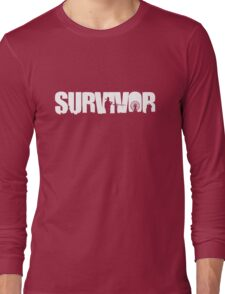Survivor - White Ink Long Sleeve T-Shirt