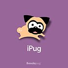 Tugg the Pug iPhone and iPod Cases (Purple) by boodapug