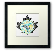 BLUE JAYS WHITE Framed Print