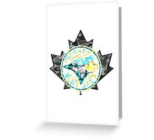 BLUE JAYS WHITE Greeting Card
