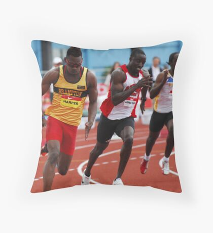 Mens 200 Meter Canadian Championships 2011 Throw Pillow