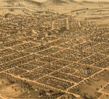 Panoramic Maps Kalamazoo Michigan 1874 Sticker