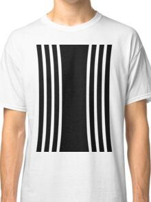 Black and White Curved Classic T-Shirt