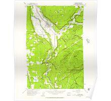 USGS Topo Map Washington State WA Orting 243006 1956 24000 Poster