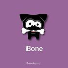 Black Pug iBone iPhone and iPod Cases (Purple) by boodapug