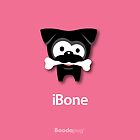 Black Pug iBone iPhone and iPod Cases (Pink) by boodapug