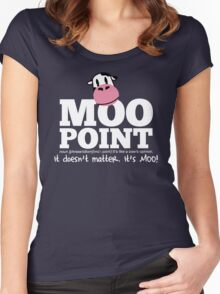 A Moo Point Women's Fitted Scoop T-Shirt