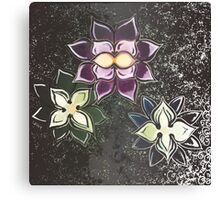 Three Flowers Canvas Print