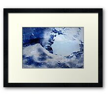 Through The Ice Framed Print