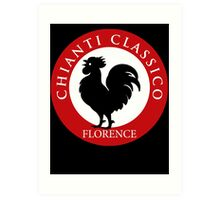 Black Rooster Florence Chianti Classico  Art Print