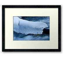 Blanket Of Ice And Snow Framed Print