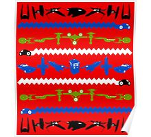 Happy Geeksmas Ugly Red Sweater Poster