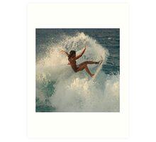 Surfing Kauai Hawaii Art Print