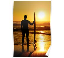 A surfer watching the waves Poster