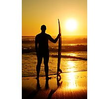 A surfer watching the waves Photographic Print