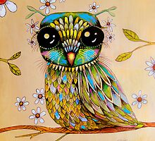 the peridot owl by © Karin  Taylor