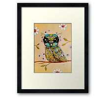 the peridot owl Framed Print