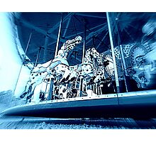 Whirling Midnight Merry-Go-Round Photographic Print