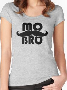 MO BRO for Mustached Gentlemen ~ MOVEMBER Women's Fitted Scoop T-Shirt