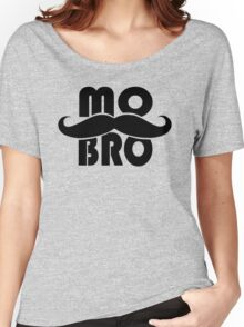 MO BRO for Mustached Gentlemen ~ MOVEMBER Women's Relaxed Fit T-Shirt