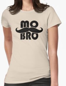MO BRO for Mustached Gentlemen ~ MOVEMBER Womens Fitted T-Shirt