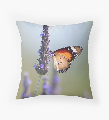 Amongst the Lavender Throw Pillow