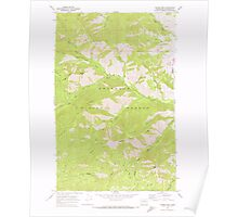 USGS Topo Map Washington State WA Hungry Mtn 241615 1968 24000 Poster